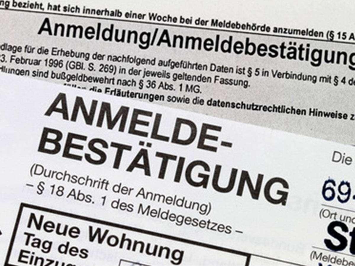 procedura di registrazione in germania